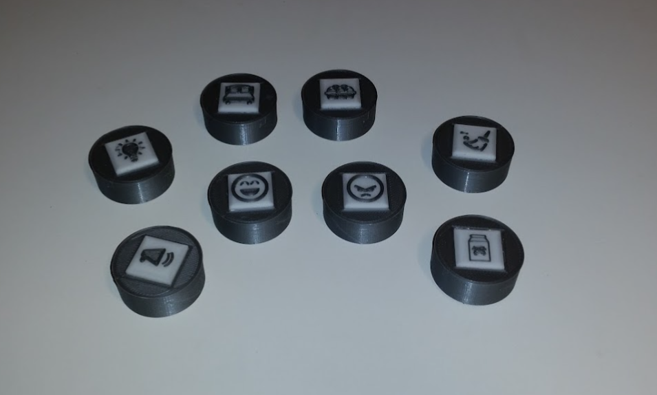 04 printed icon buttons